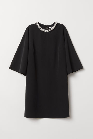 Oversized dress - Black/Beads - Ladies | H&M