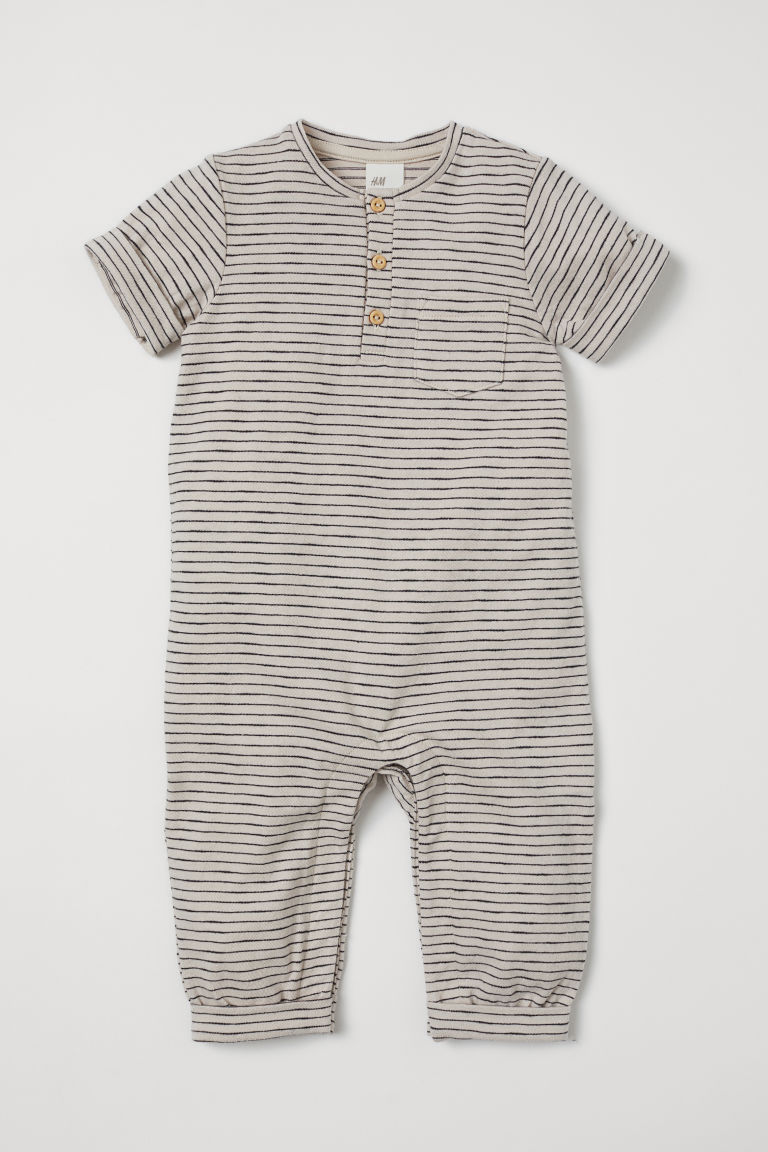 41b3d8994 Striped romper suit - Natural white -