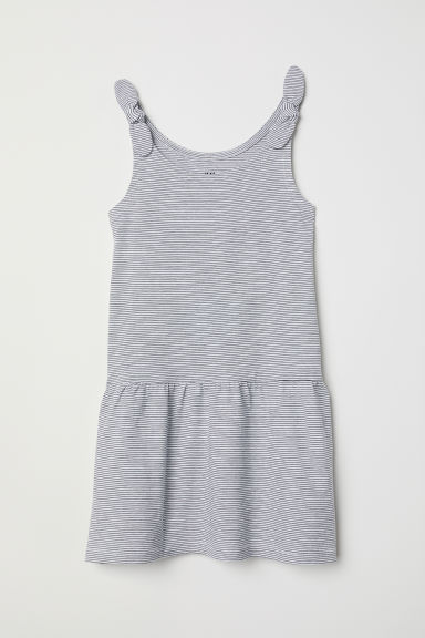 Sleeveless jersey dress - White/Black striped - Kids | H&M