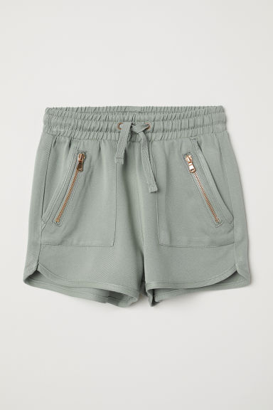 Shorts with zips - Light khaki green - Kids | H&M