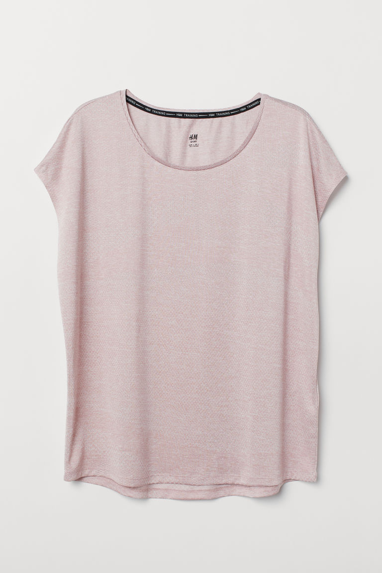 H&M+ Sports top - Light pink marl - Ladies | H&M CN