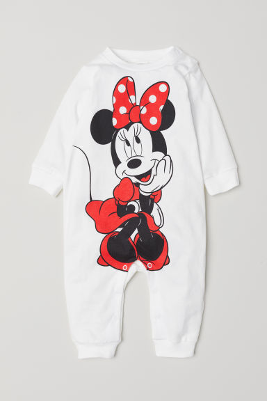 Cotton pyjamas - Natural white/Minnie Mouse - Kids | H&M CN