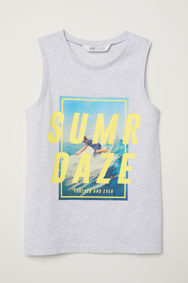 Jersey vest top - Grey marl - Kids | H&M