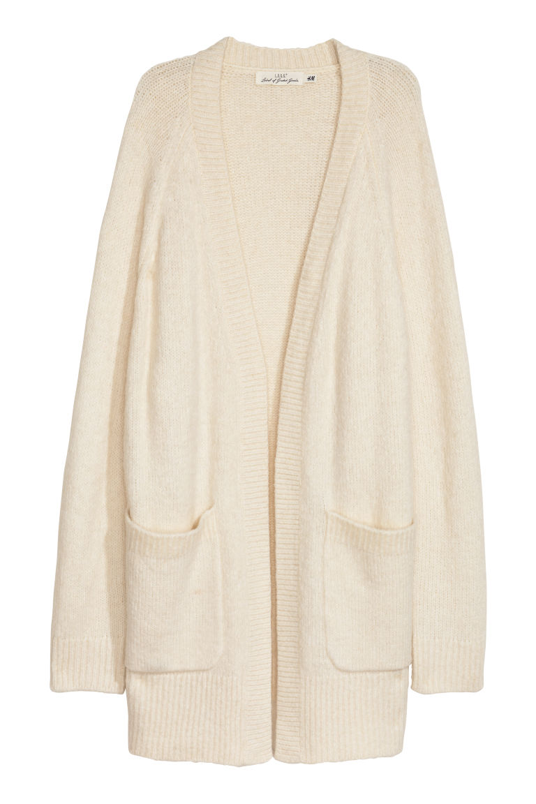 Knitted cardigan - Natural white - Ladies | H&M