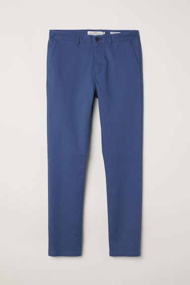 Cotton chinos Skinny fit - Blue-grey - Men | H&M
