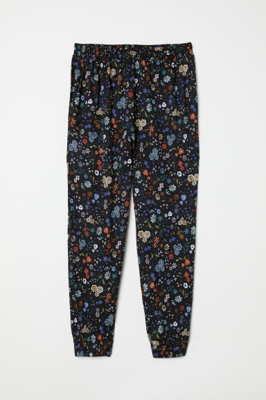 Harem trousers - Black/Floral - Ladies | H&M