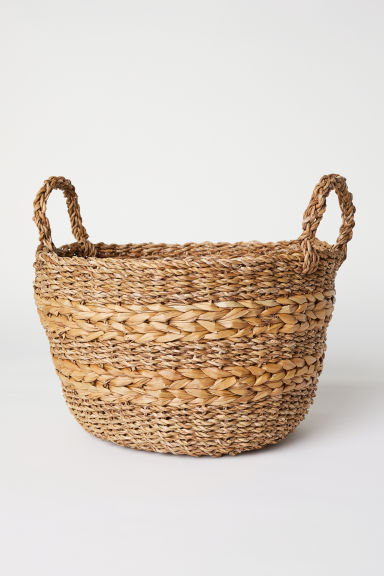 Large seagrass storage basket - Natural - Home All | H&M CN