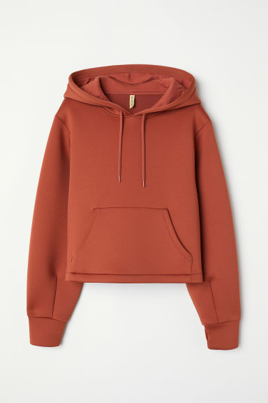 Scuba hooded top - Rust red - Ladies | H&M