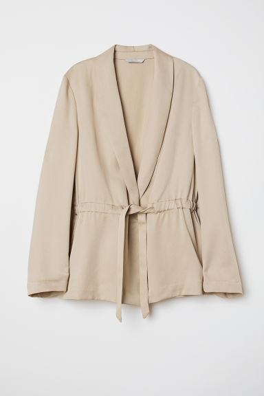 Lyocell Jacket - Light beige - Ladies | H&M US