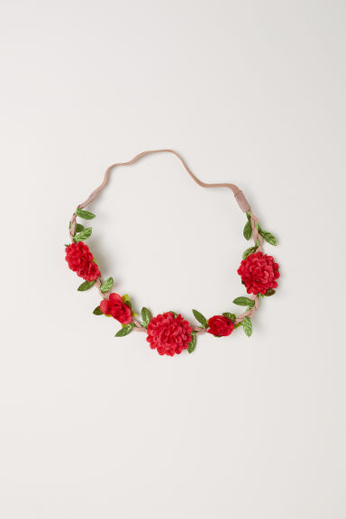 Hairband with flowers - Bright red - Ladies | H&M