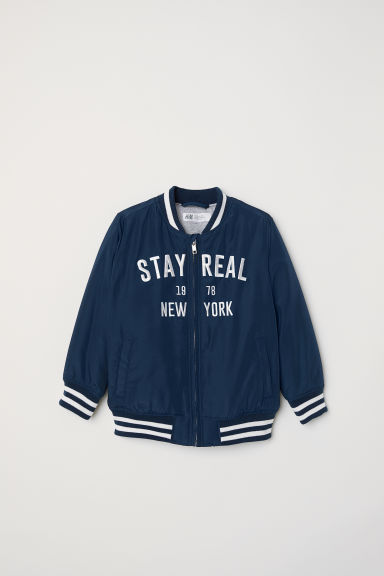 Baseball jacket - Dark blue - Kids | H&M