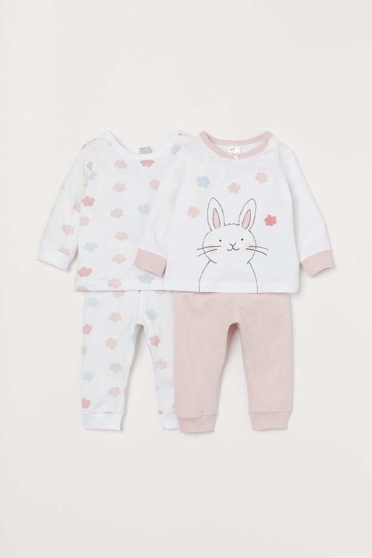 2-pack pyjamas - Light pink/Rabbit - Kids | H&M CN