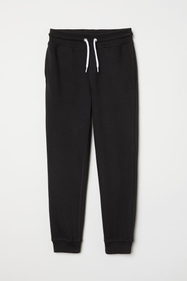 Cotton-blend joggers - Black - Kids | H&M CN
