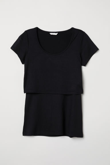 MAMA Nursing top - Black -  | H&M CN