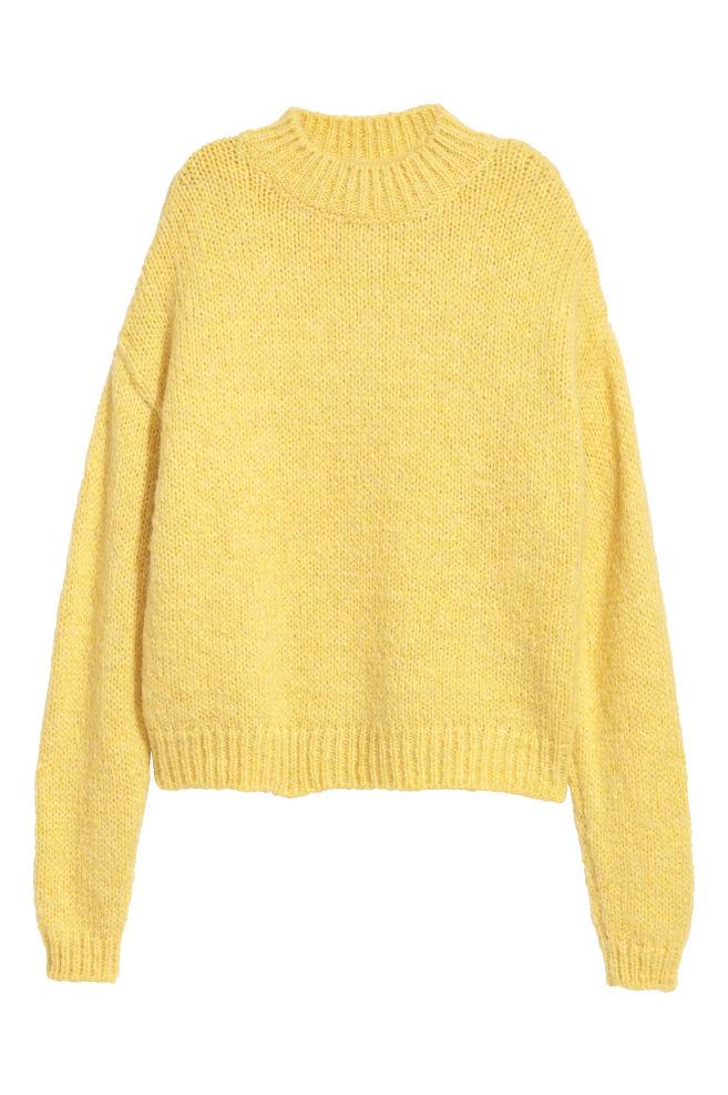 1940c5c900f61f Sweter z domieszką moheru - Żółty - ONA | H&M ...