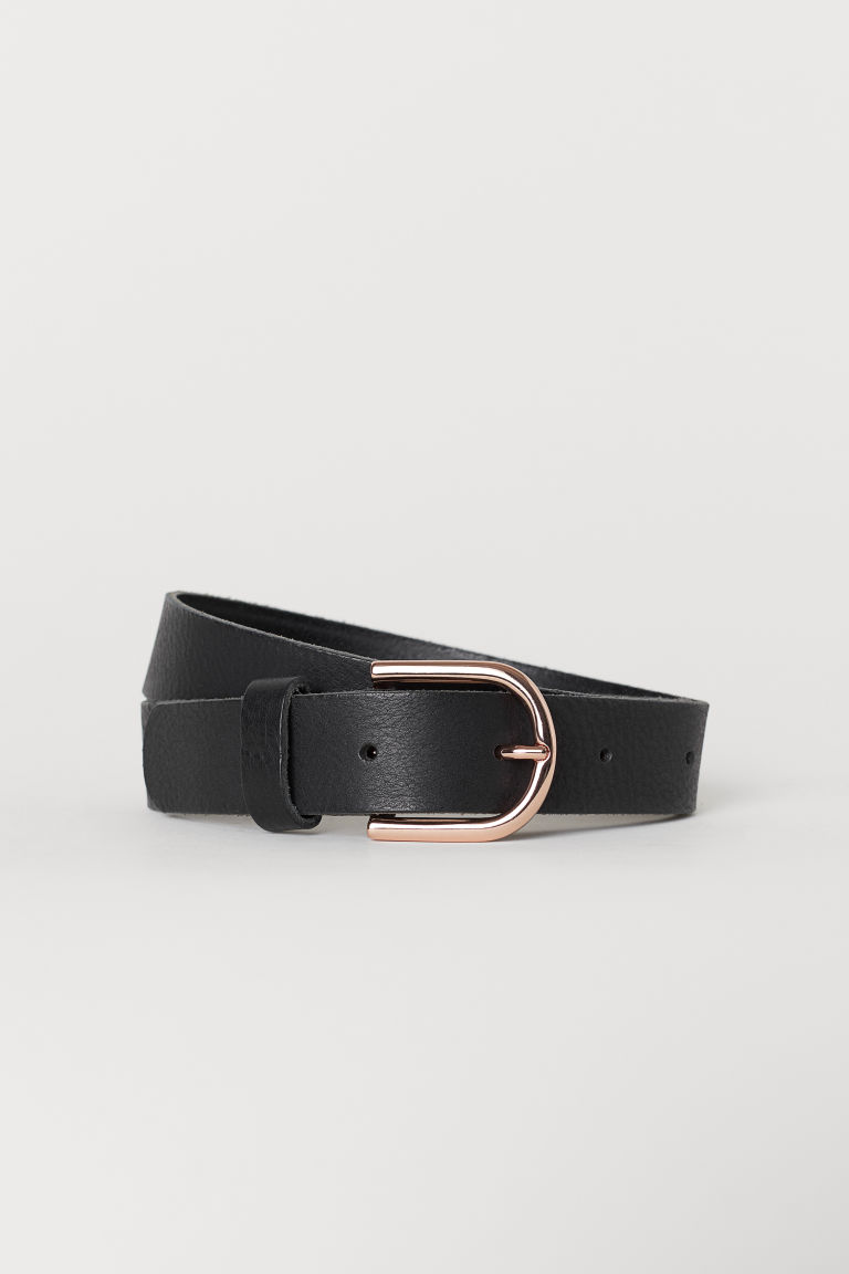 Leather belt - Black - Kids | H&M