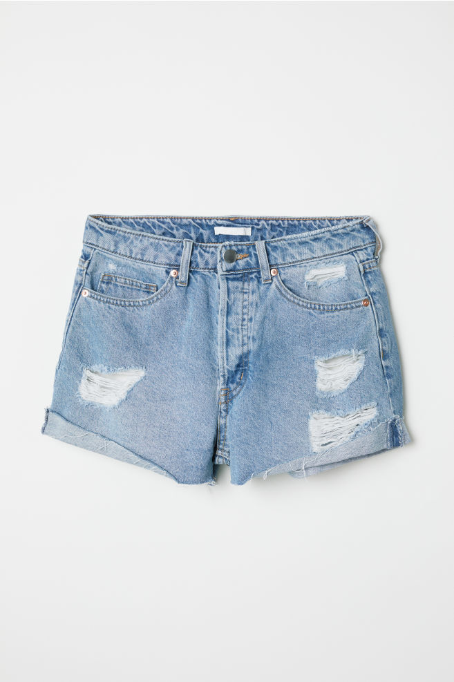 0df52e05a6c2 ... Denim Shorts - Denim blue Trashed - Ladies