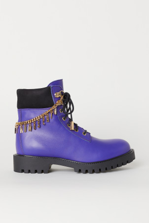 Boots with ankle chains