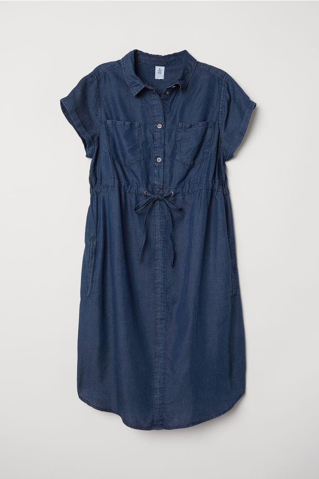 4d68de10ae MAMA Lyocell denim dress - Denim blue - Ladies