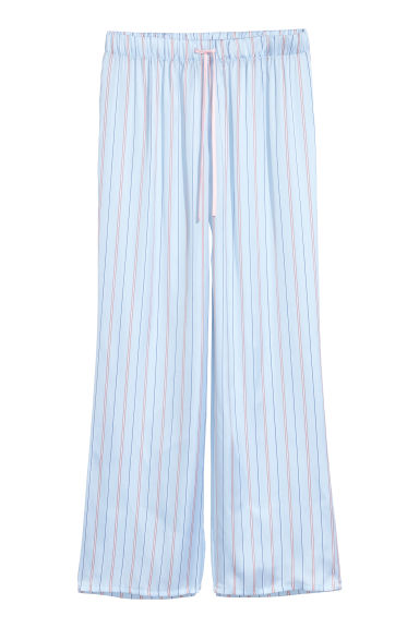 Satin lounge trousers - Light blue -  | H&M