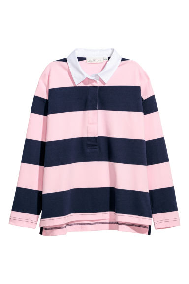 Rugby shirt - Dark blue/Pink -  | H&M