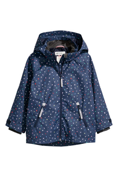 Outdoor jacket - Dark blue/Patterned - Kids | H&M
