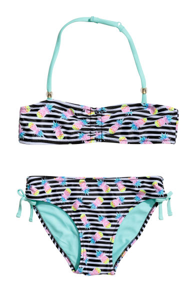 Patterned bikini - Black/Pineapple -  | H&M