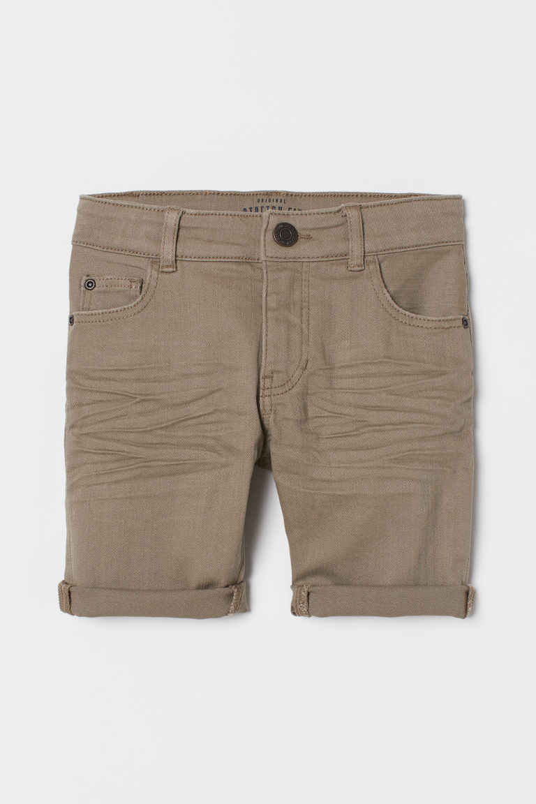 Twill Shorts - Taupe - Kids | H&M US