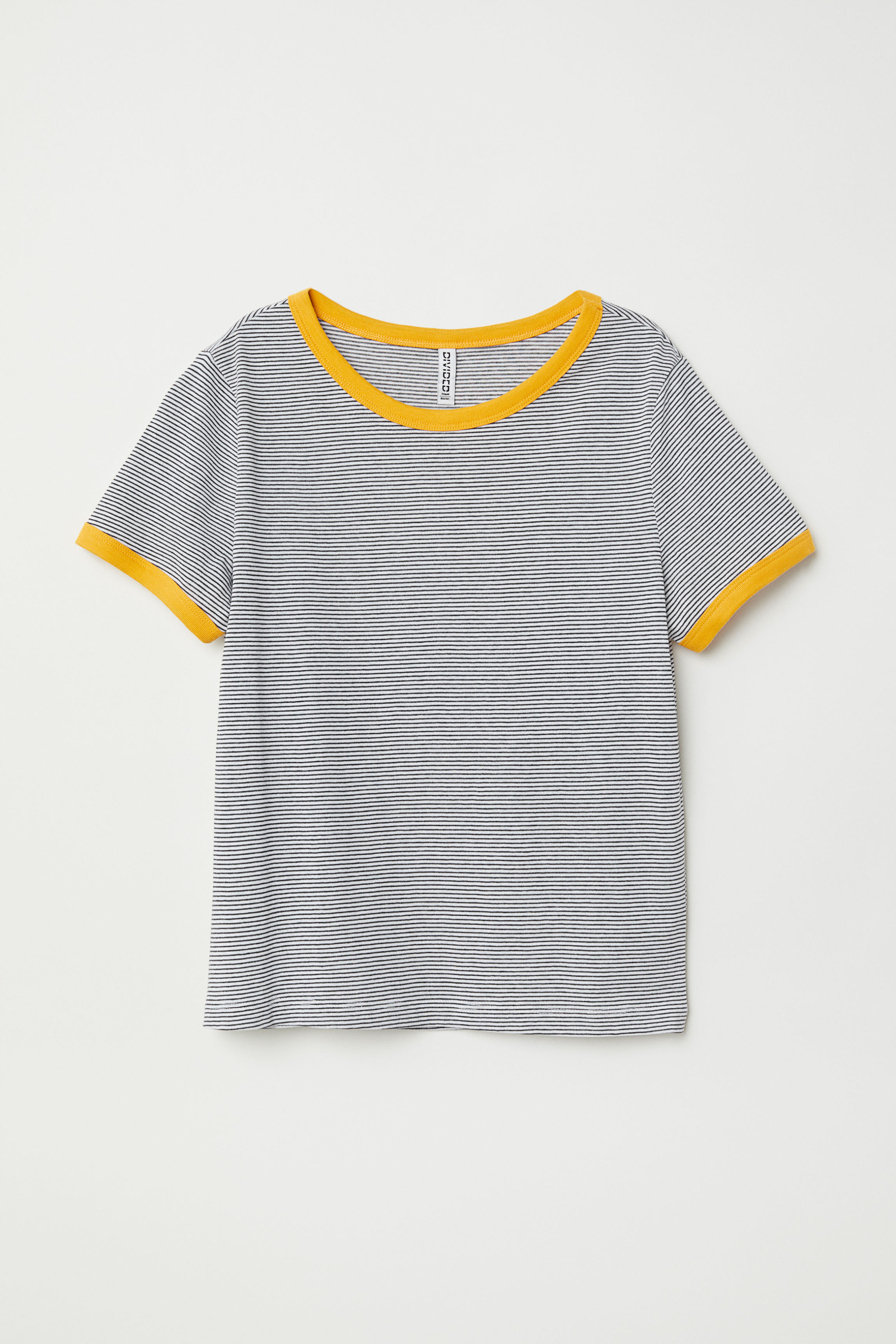 Short T Shirt Mustard Yellow Ladies Hm Us