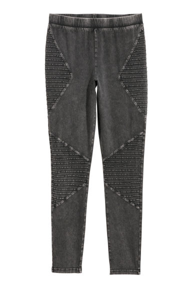 H&M+ Leggings moteros de punto - Negro/Washed out -  | H&M ES