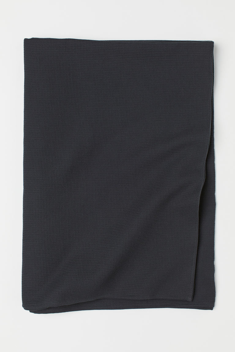 Waffled tablecloth - Anthracite grey - Home All | H&M IE