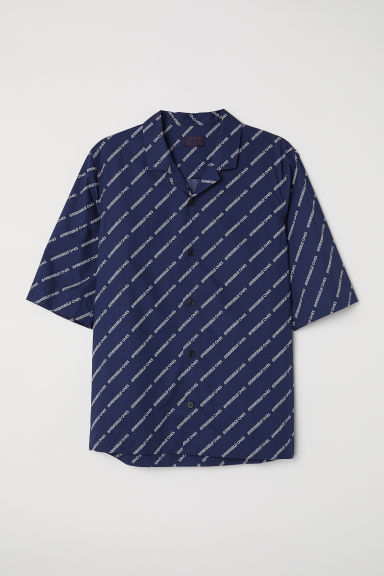 Short-sleeved shirt - Dark blue - Men | H&M