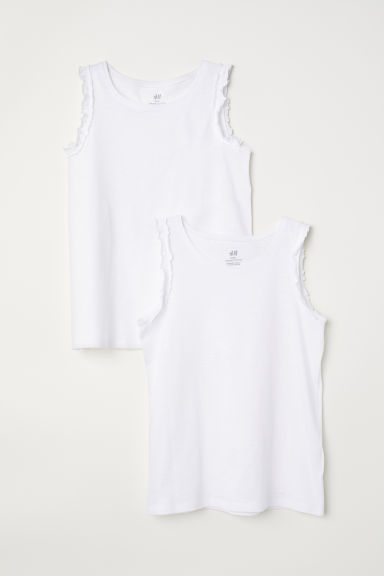 2-pack vest tops - White - Kids | H&M