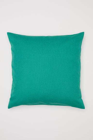 Cotton canvas cushion cover - Green - Home All | H&M CN