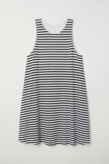 A-line dress - Black/White striped - Ladies | H&M