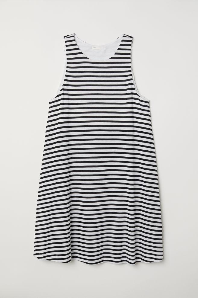 701d5ba35bda Kleid in A-Linie - Schwarz Weiß gestreift - Ladies   H M ...