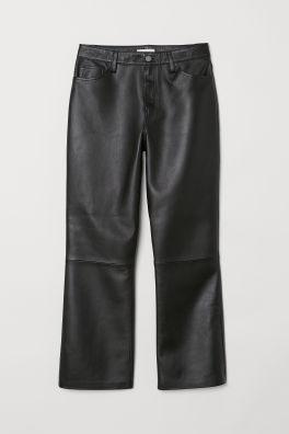7f0a5b50f22cc Faux Leather Pants - Black -   H&M CA