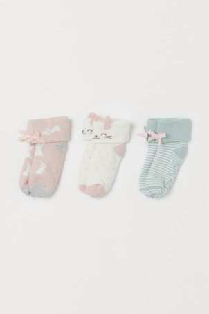 3er-Pack Frotteesocken