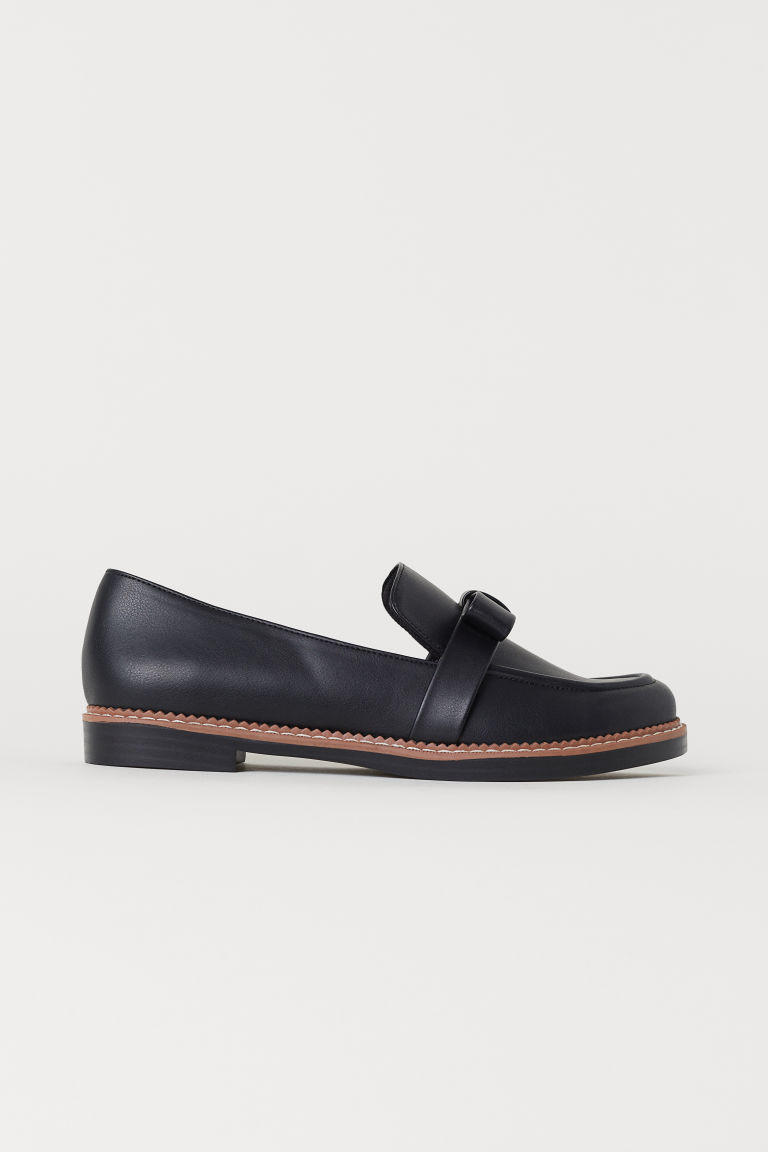 Loafers with a bow - Black - Ladies | H&M CN