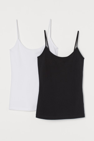 2-pack cotton-mix strappy topsModel