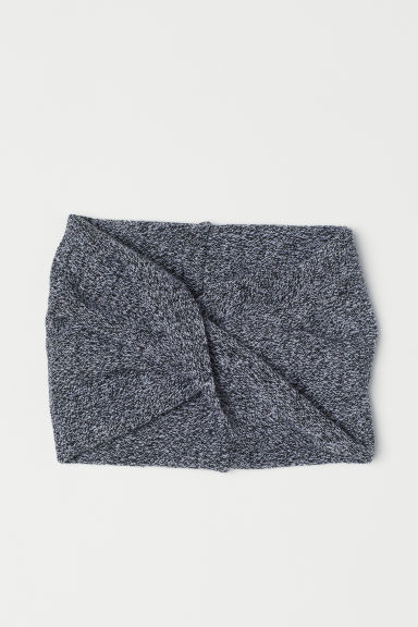 Knitted tube scarf - Black marl -  | H&M CN