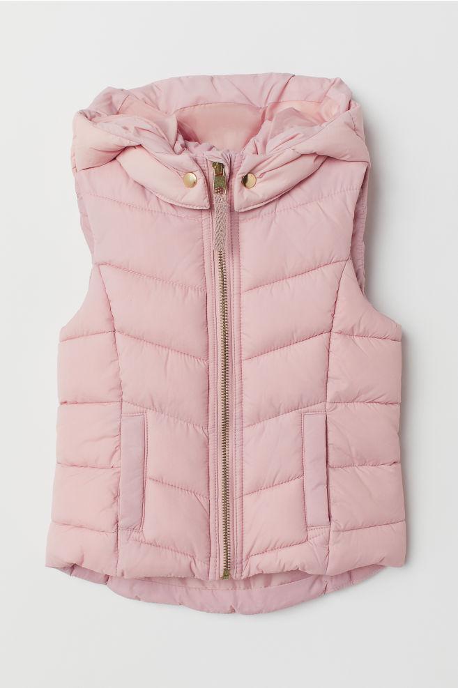 0e3a2284 Vattert vest - Lys rosa - BARN | H&M ...