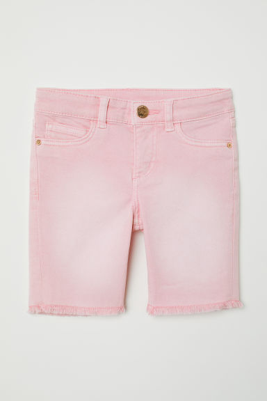 Long denim shorts - Light pink -  | H&M CN