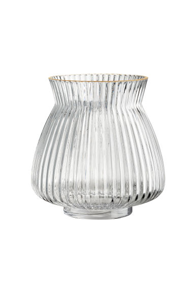 Glass vase - Clear glass -  | H&M IE