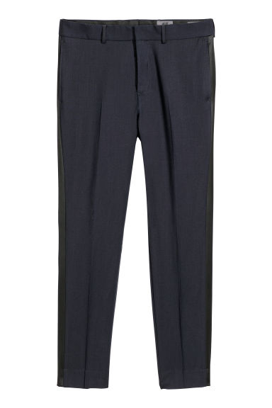 Tuxedo trousers Skinny fit - Dark blue - Men | H&M