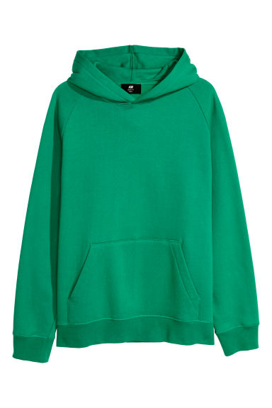 Hooded top Loose fit - Green - Men | H&M