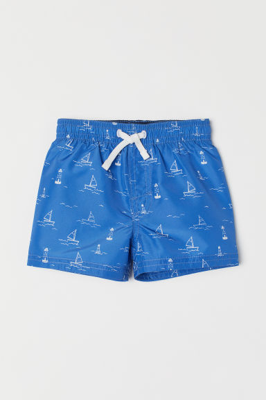 Swim shorts - Blue/Boats - Kids | H&M CN
