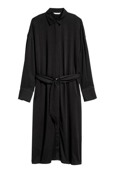 Shirt dress - Black -  | H&M GB