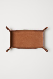 Rectangular Leather TrayModel