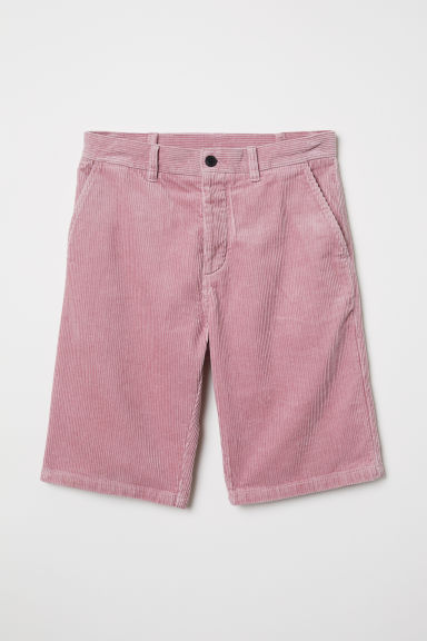 Short van katoenen ribfluweel - Nevelroze - HEREN | H&M BE